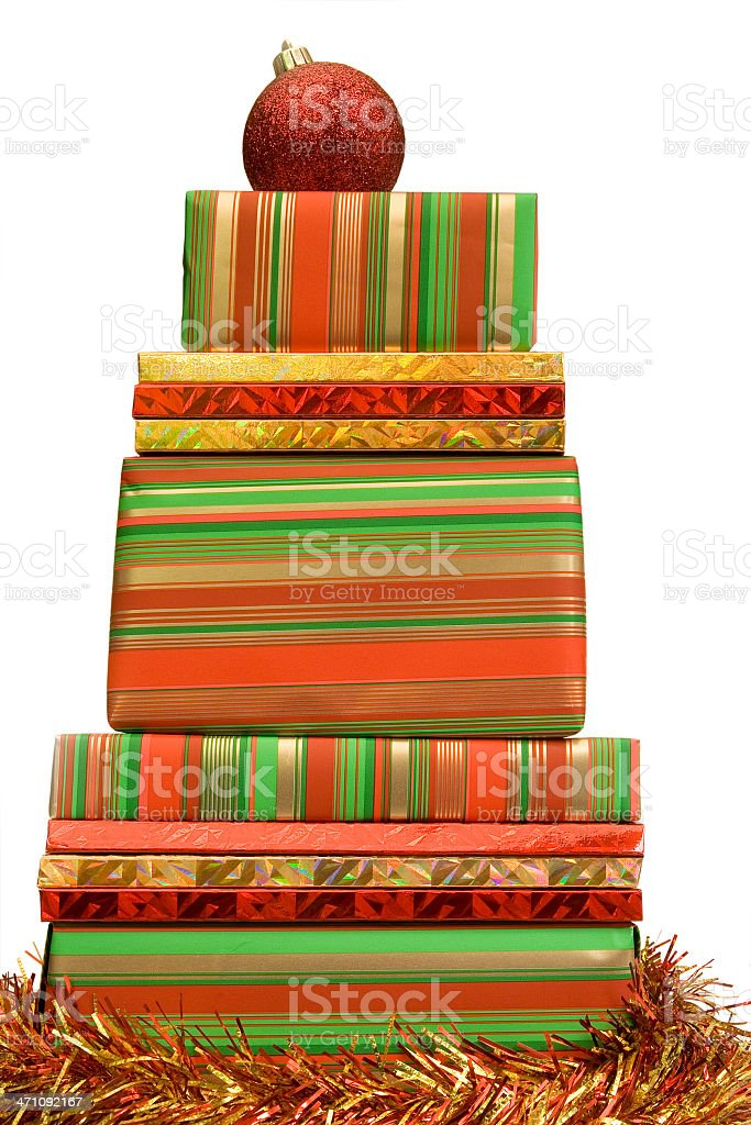 Red, gold and green Christmas royalty-free stock photo