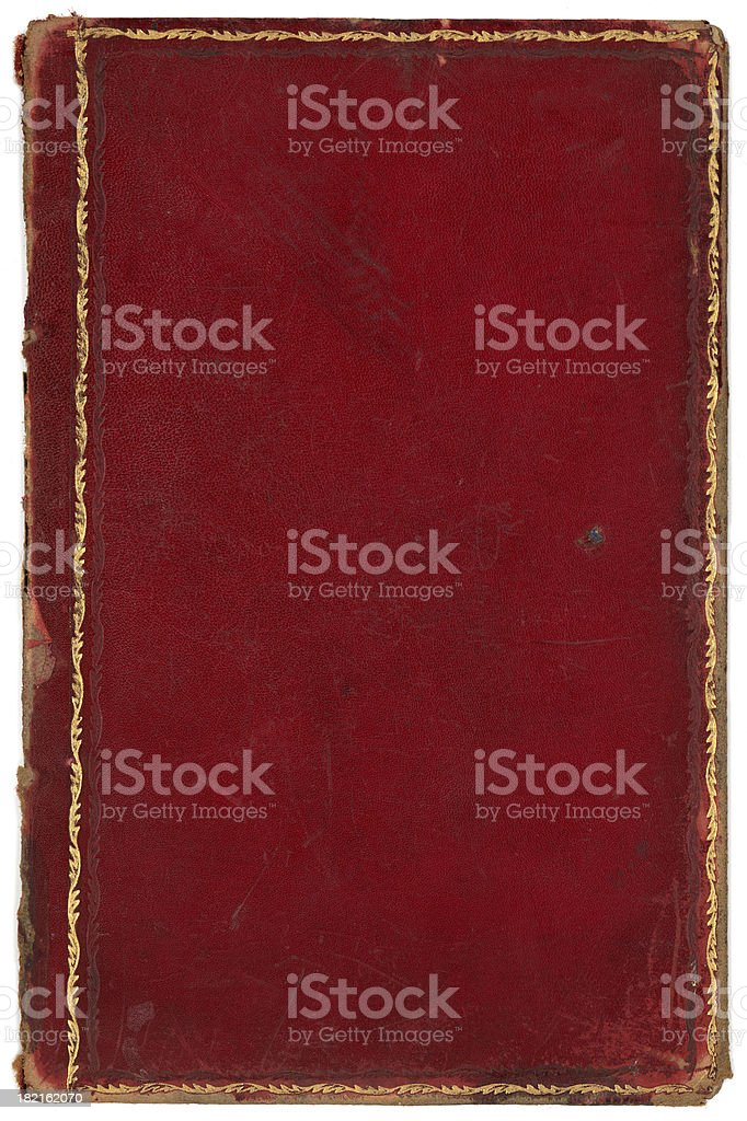red gold edged book cover royalty-free stock photo
