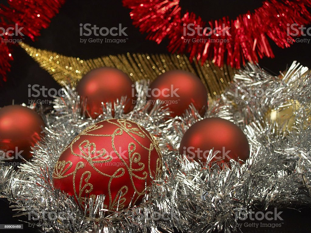 Red, gold, silver Xmas royalty-free stock photo