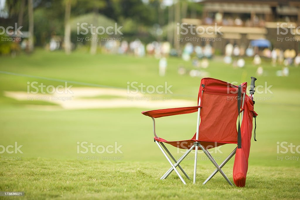 Red Golf Chair royalty-free stock photo