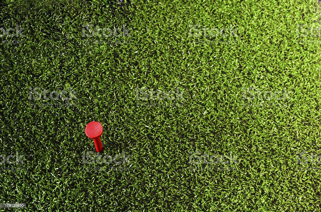 Red Golf Tee royalty-free stock photo
