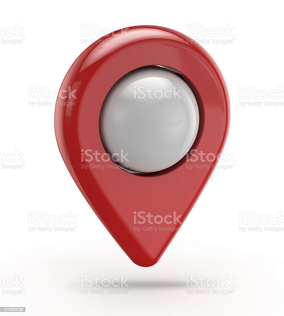 red gps icon (pointer) stock photo