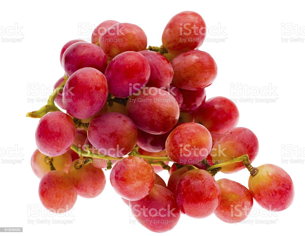 red grape, isolated royalty-free stock photo