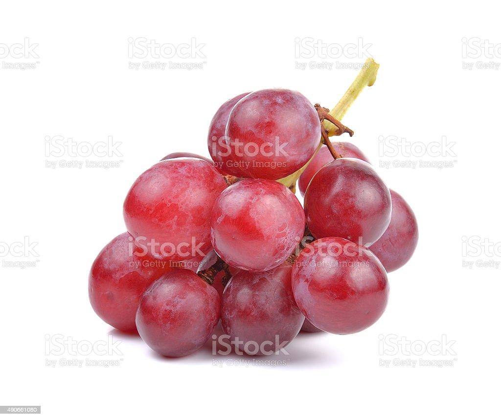 Czerwone winogrono na białym tle zbiór zdjęć royalty-free