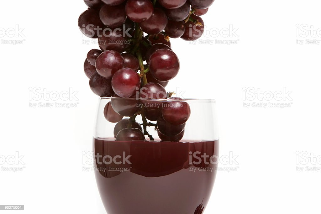 Red grapes and wine royalty-free stock photo