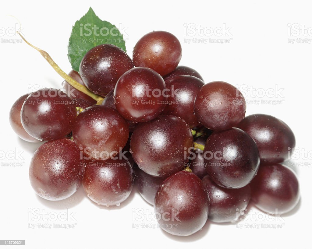 red grapes cut out on white royalty-free stock photo