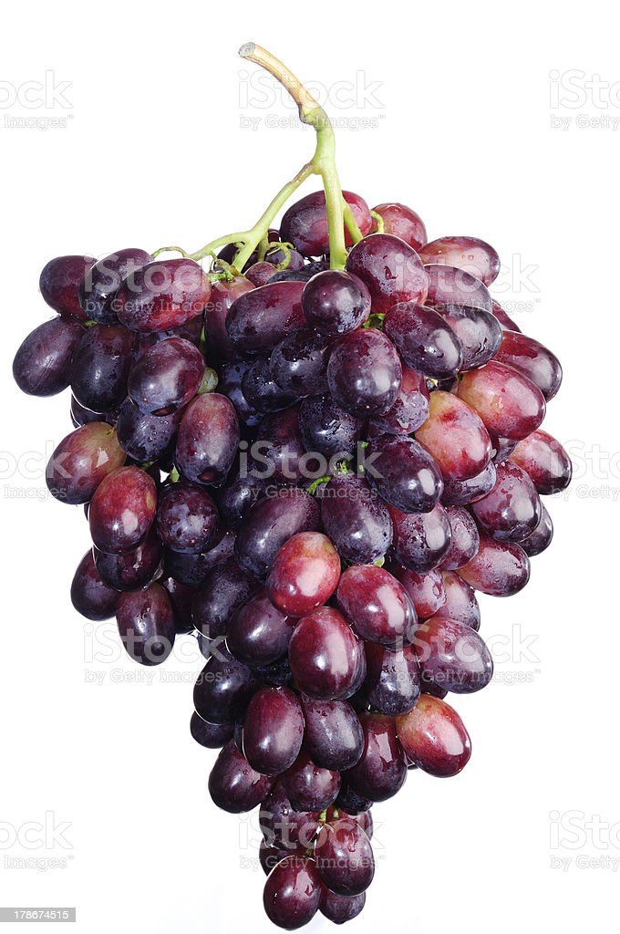 Red grapes isolated on white. royalty-free stock photo