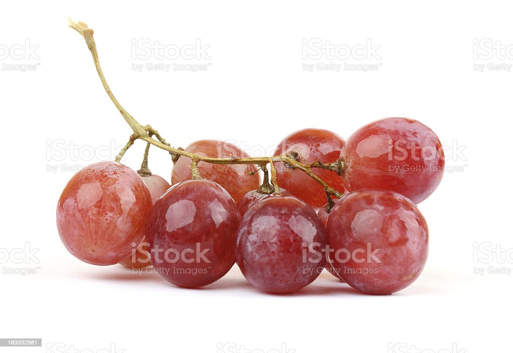 Red grapes stock photo