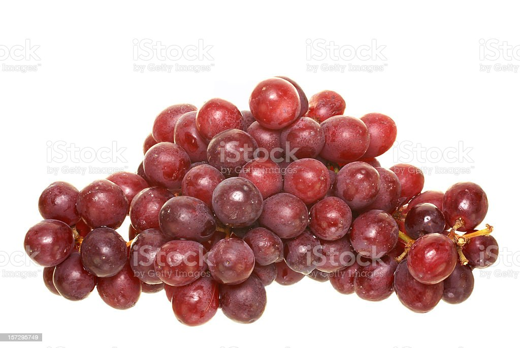 red grapes, pile royalty-free stock photo