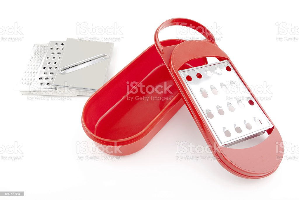 Red grater with blades royalty-free stock photo