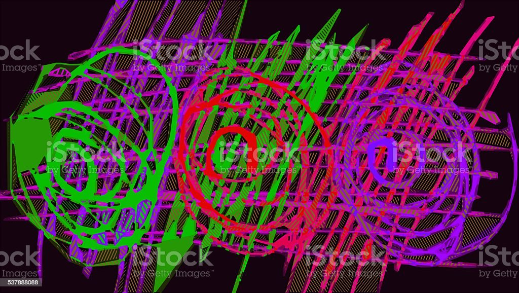 red green and purple drawing and painting circle stock photo