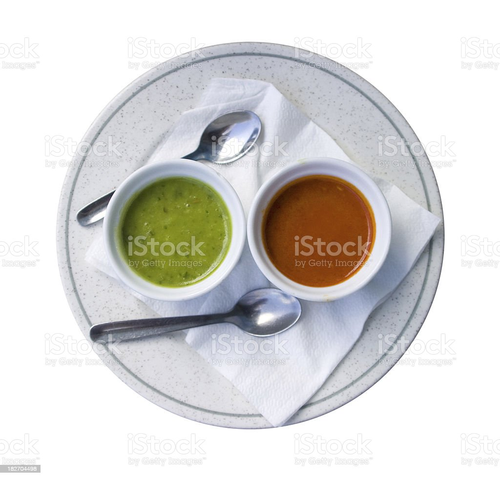 red green sauce stock photo