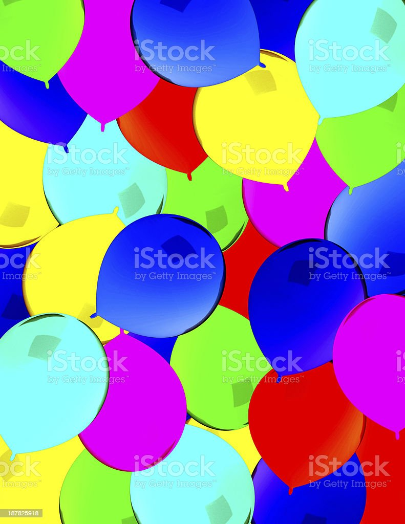 Green and blue balloons - Red Green Yellow Blue Balloons On Paper Royalty Free Stock Photo