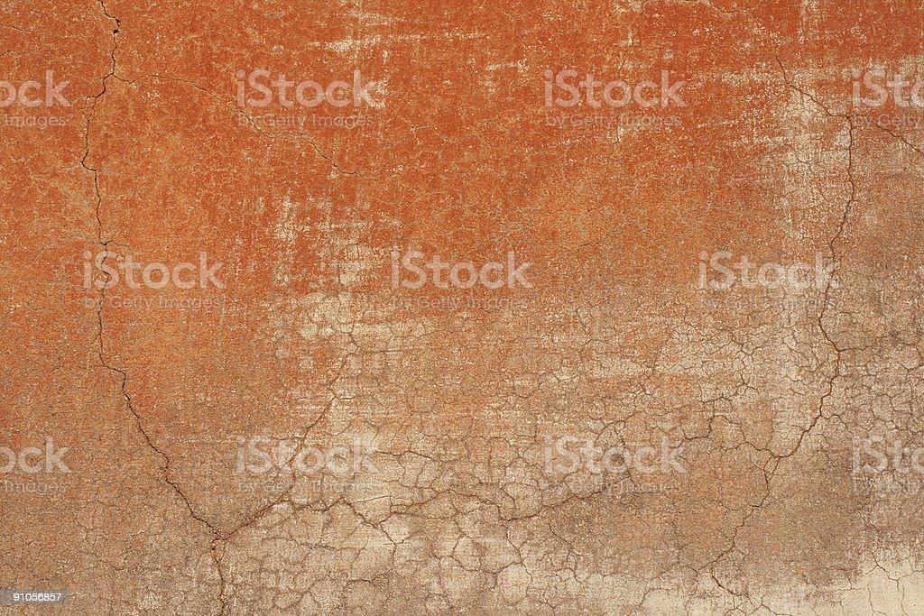 Red grey Roman grunge wall texture, Roma Italy royalty-free stock photo