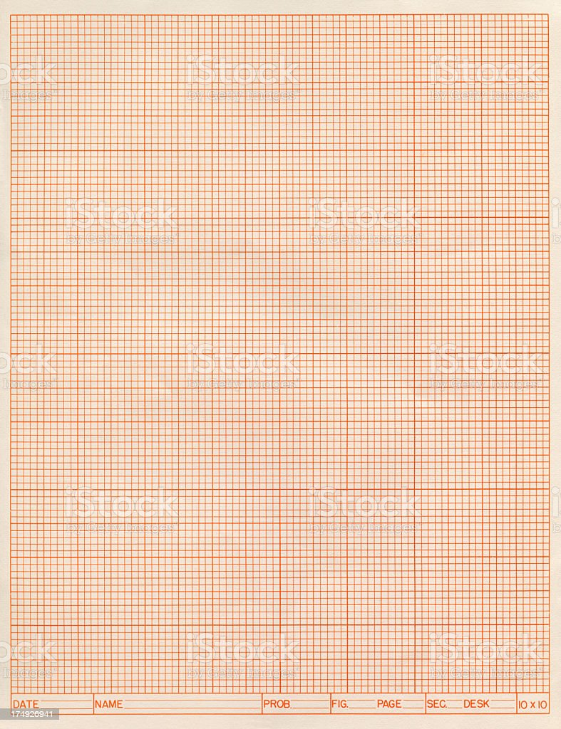 red grid paper royalty-free stock photo