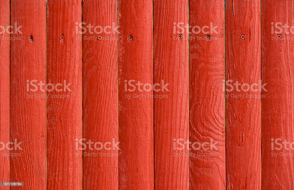 Red grunge painted wooden planks panel royalty-free stock photo