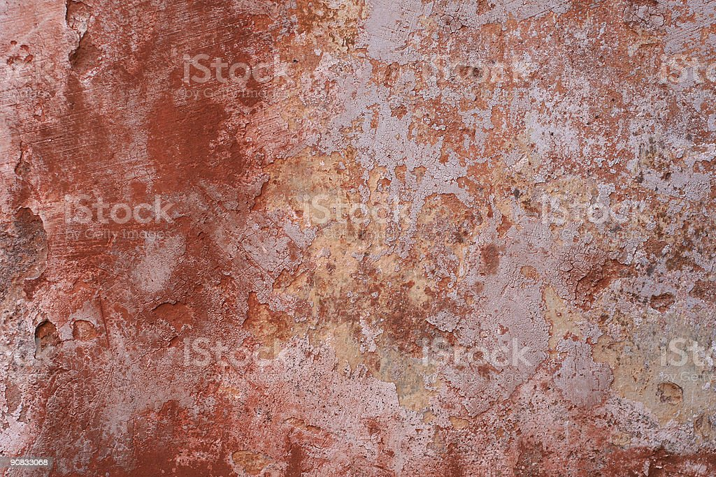 Red grunge Roman Wall texture royalty-free stock photo