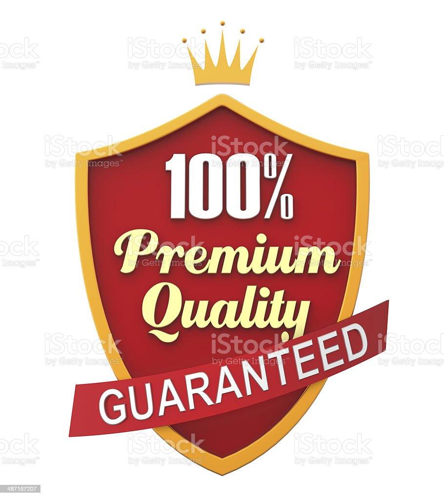 Red Guaranteed Label stock photo