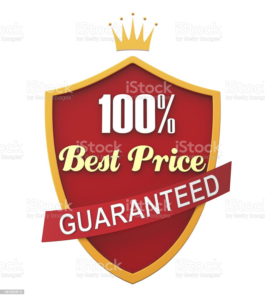 Red Guaranteed Label royalty-free stock photo