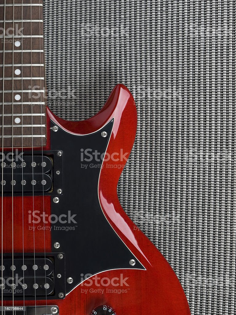 Red Guitar royalty-free stock photo