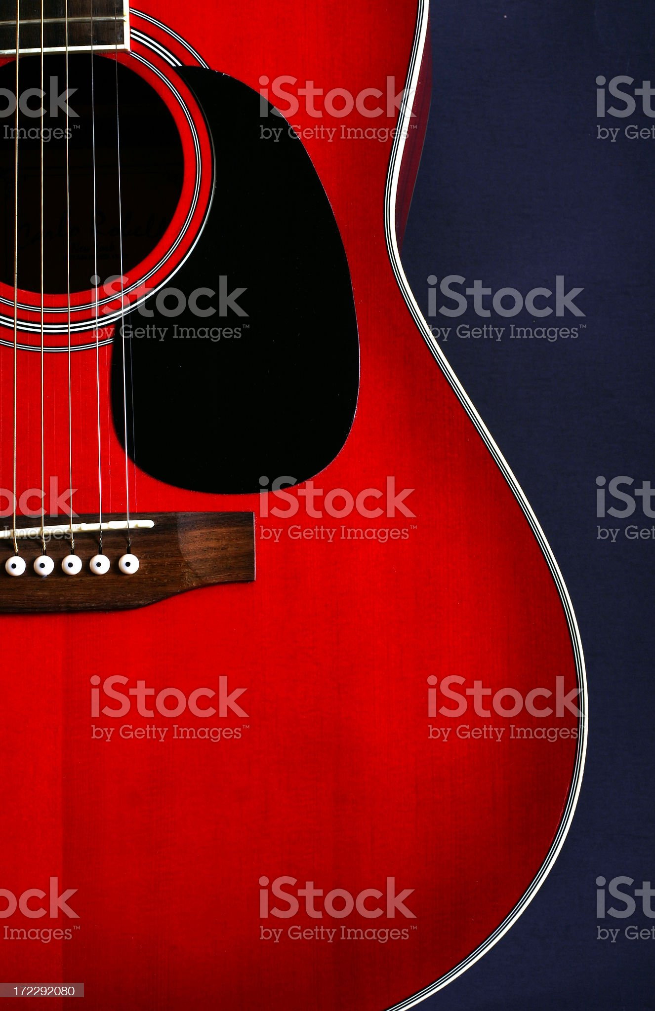 Red guitar vertical royalty-free stock photo