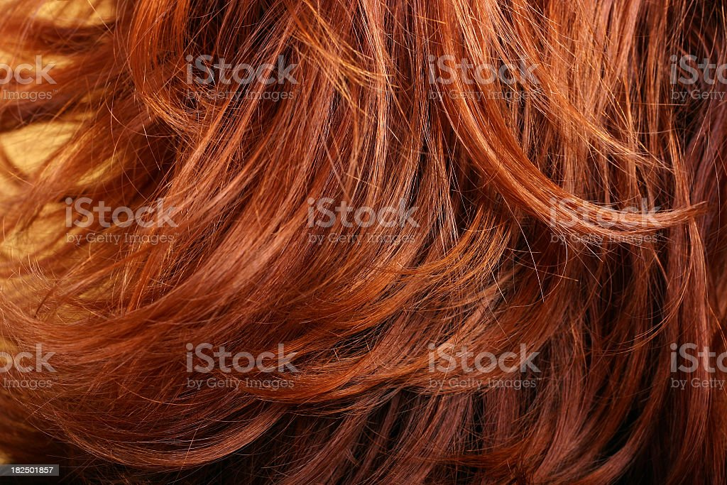 Red hair background stock photo