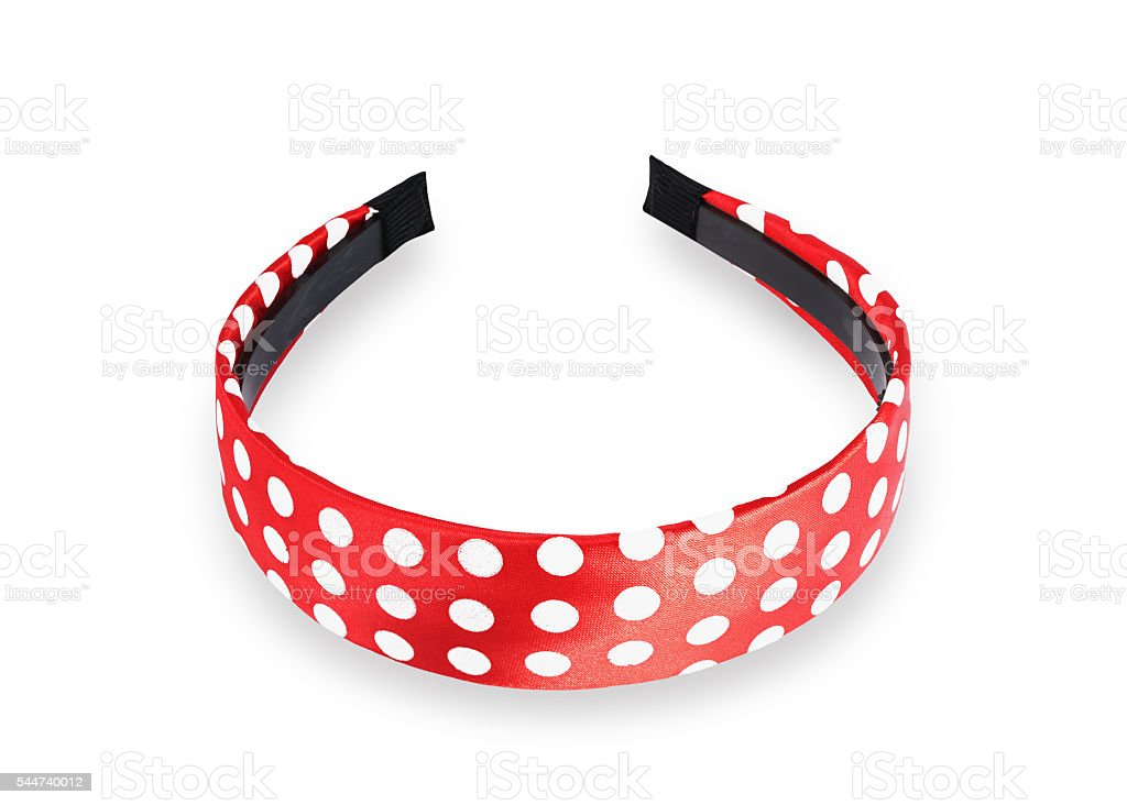 Red hair band stock photo