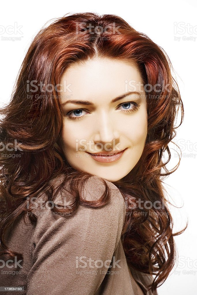 red hair model royalty-free stock photo