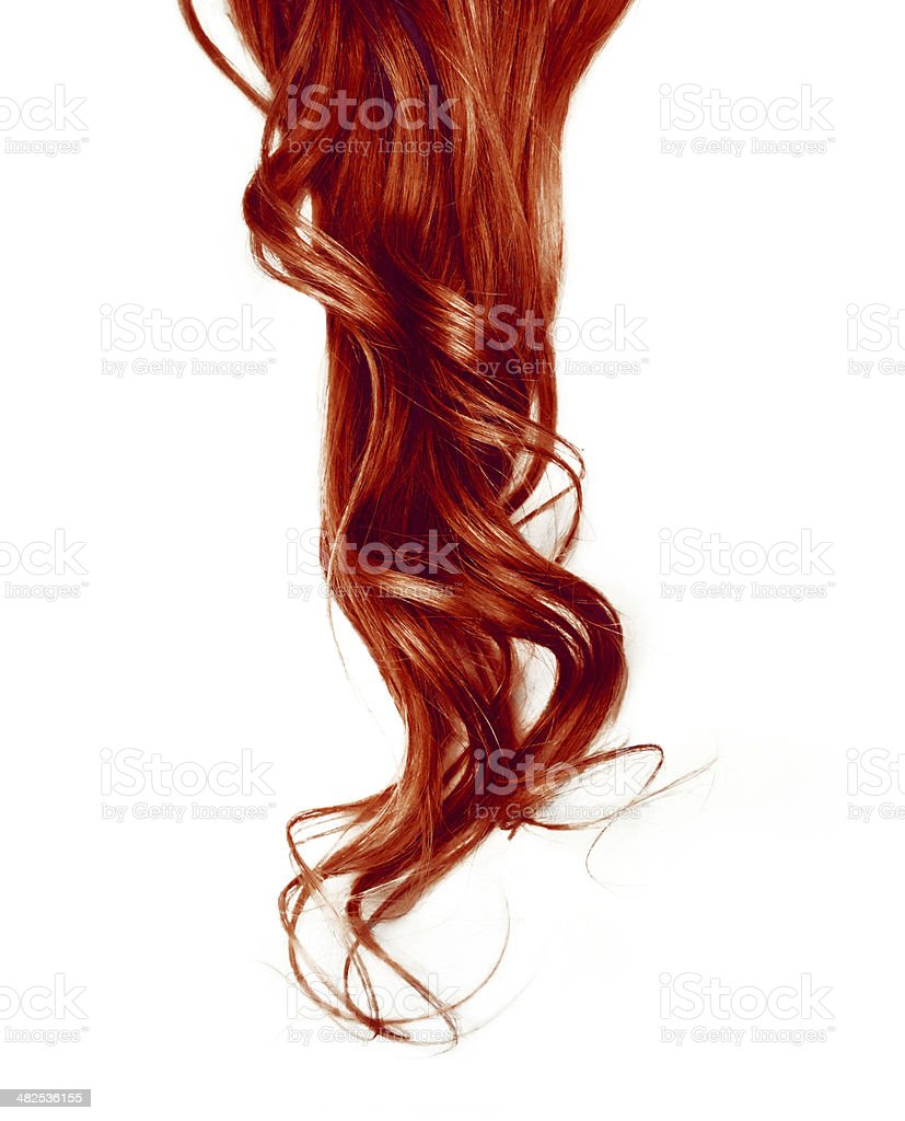 Red hair stock photo