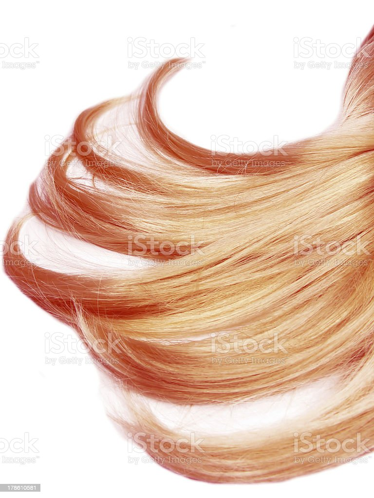 red hair strands texture background royalty-free stock photo
