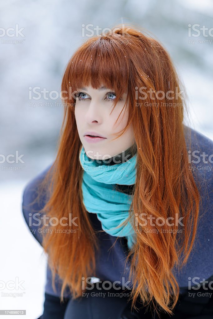 red hair woman royalty-free stock photo
