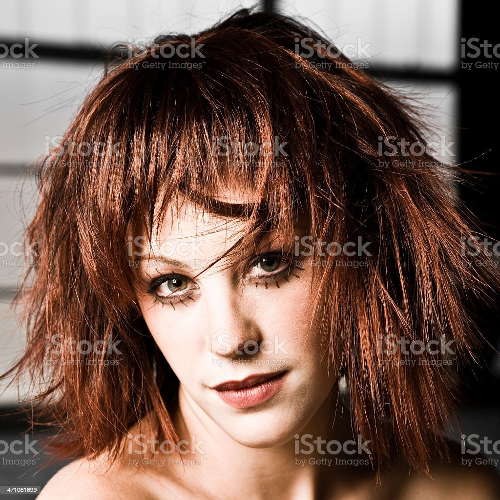 Red Haired French Beauty royalty-free stock photo