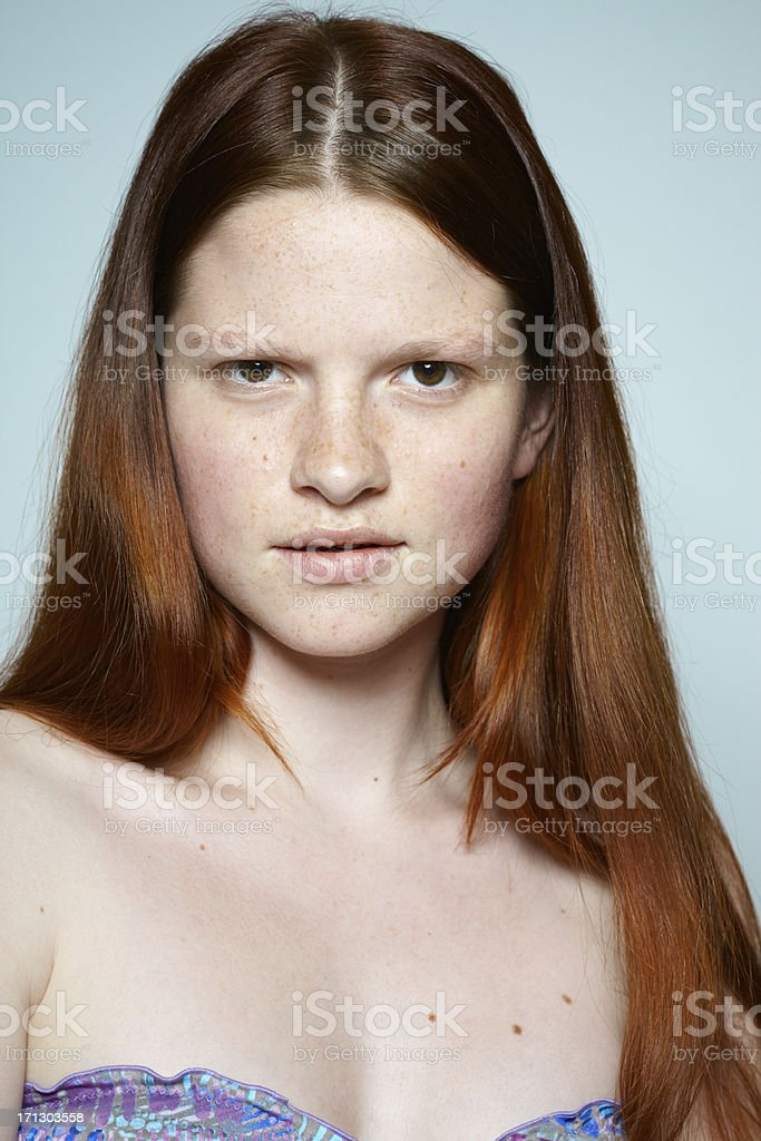 Red Haired Teenager stock photo