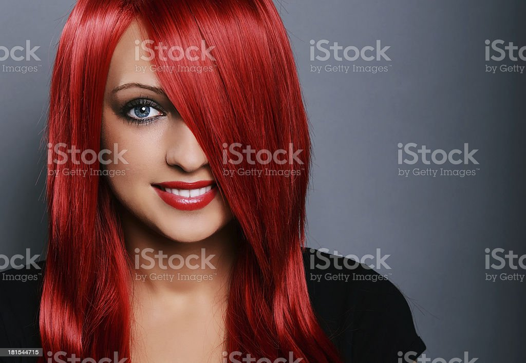 Red haired woman royalty-free stock photo