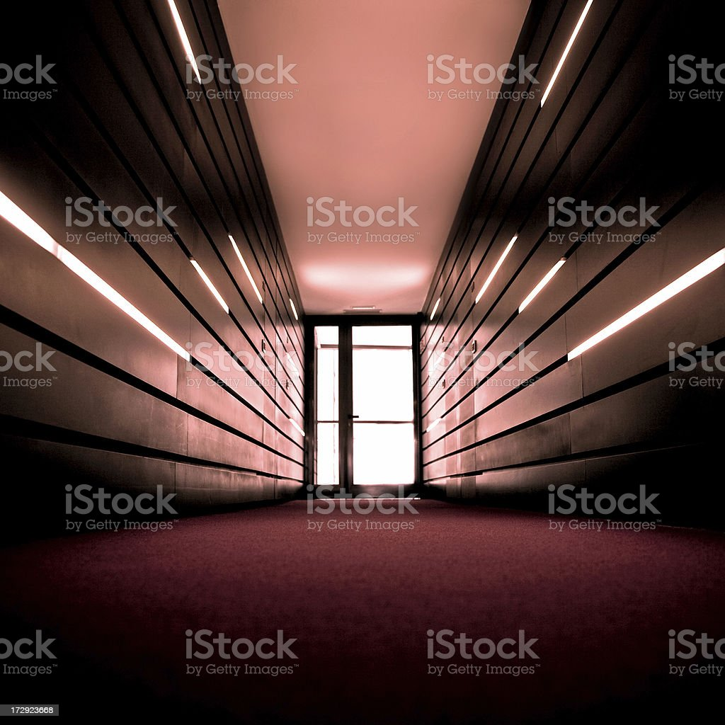 Red Hallway royalty-free stock photo