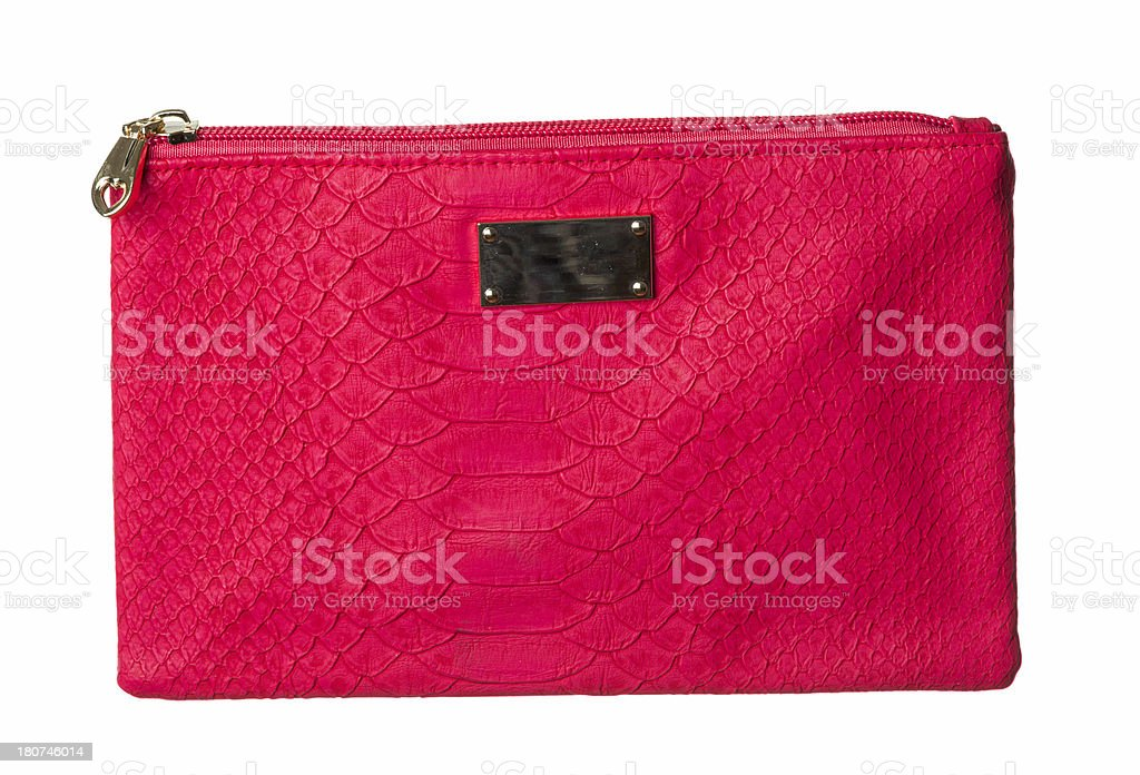 red hand bag on white royalty-free stock photo