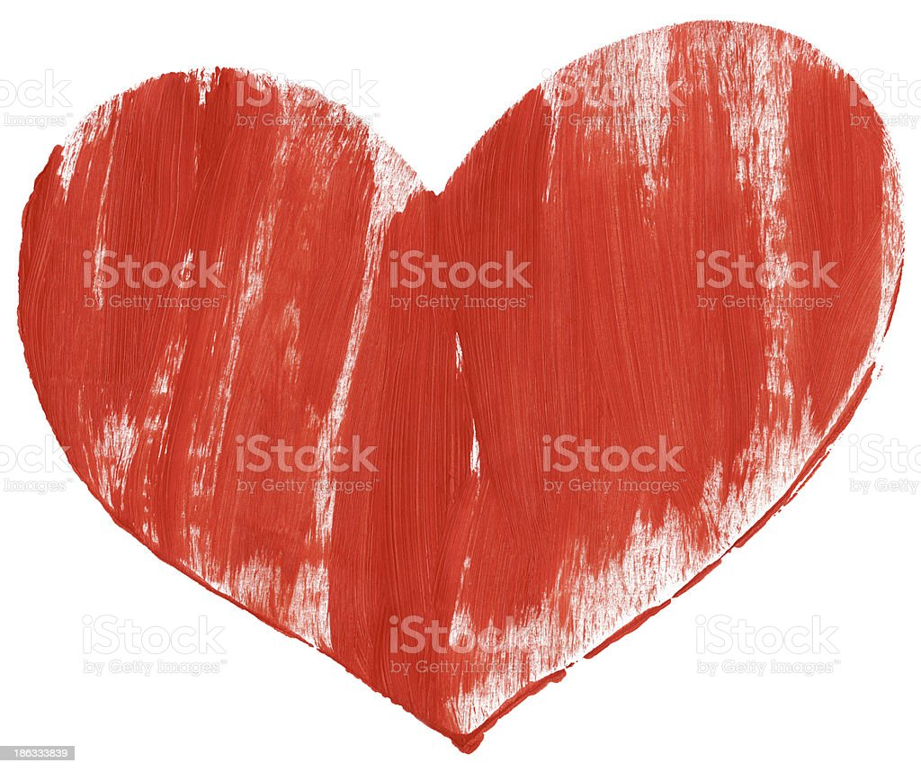 Red hand painted heart royalty-free stock photo