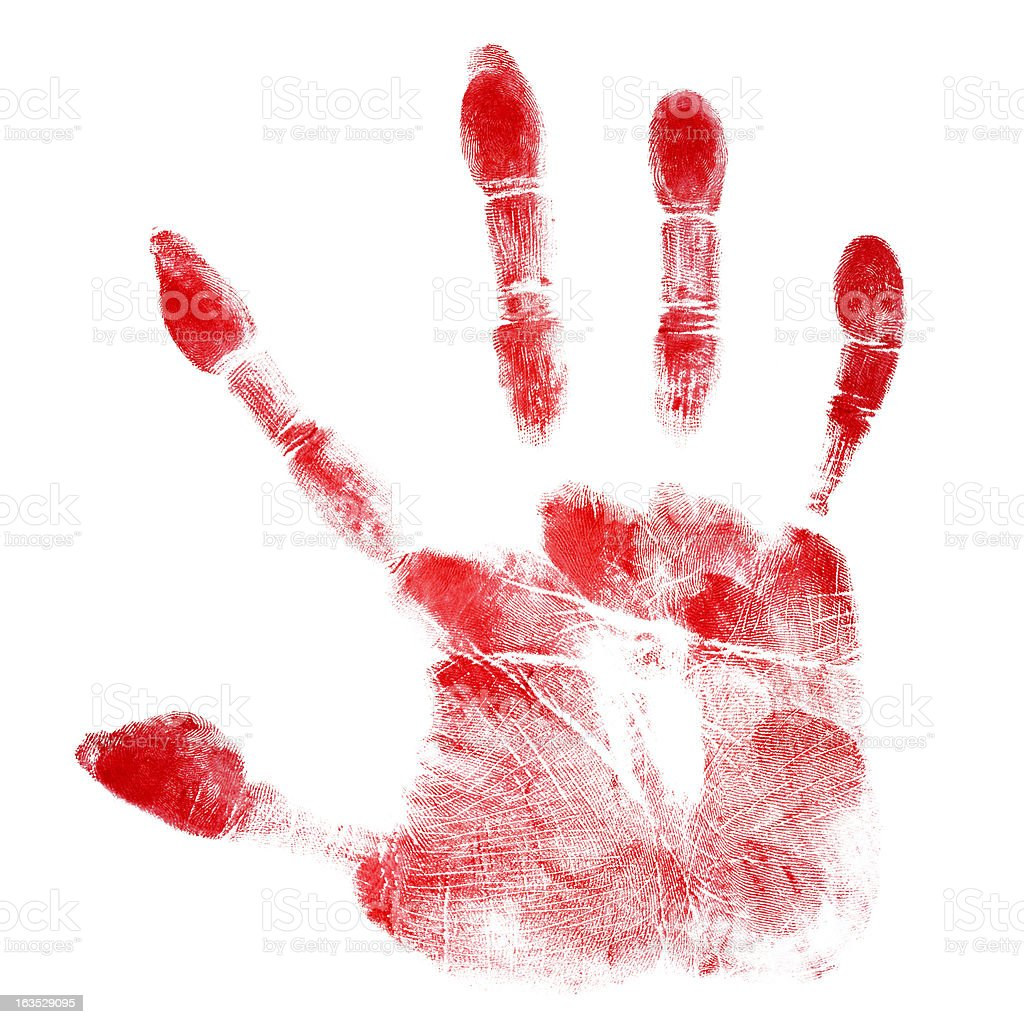 Red Hand royalty-free stock photo