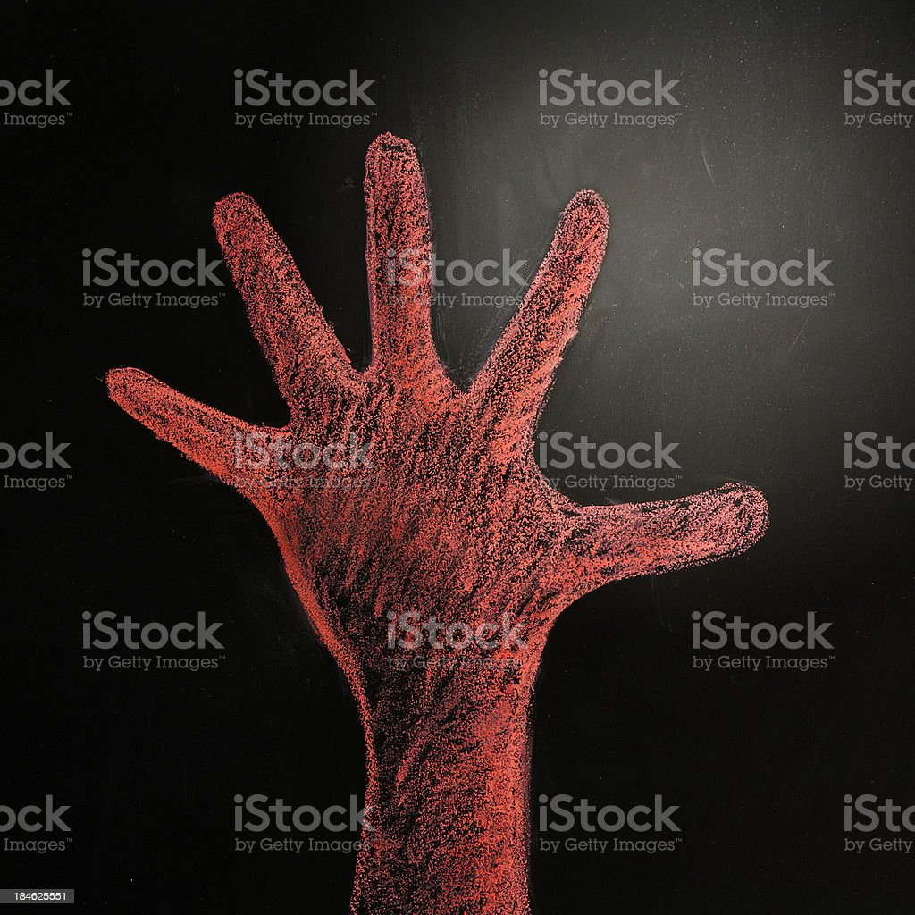 Red hand stock photo