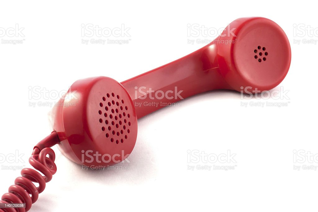 red handset stock photo