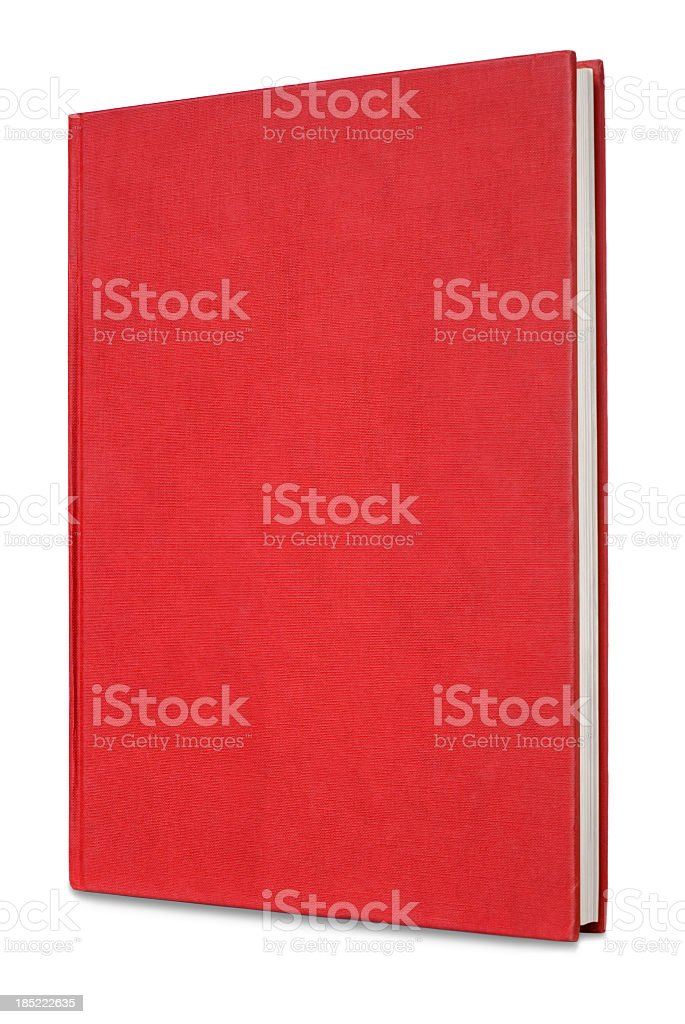 Red hardback notebook on a white background royalty-free stock photo