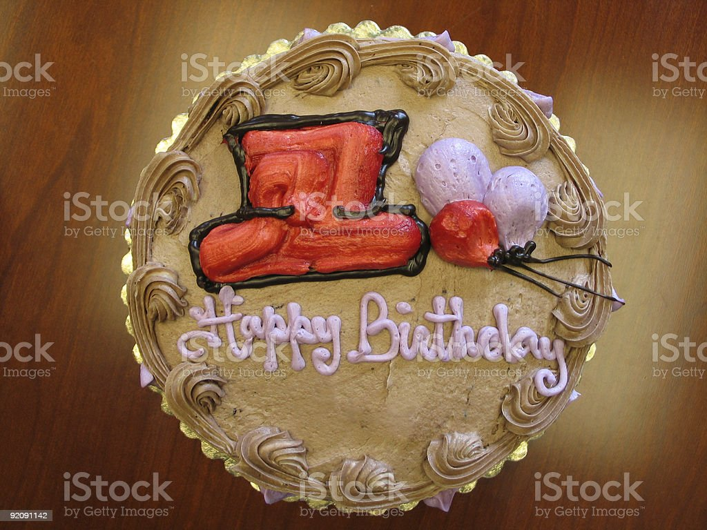 Red Hat Birthday Cake royalty-free stock photo