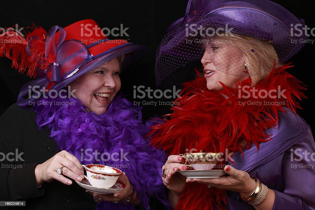 Red Hatters stock photo