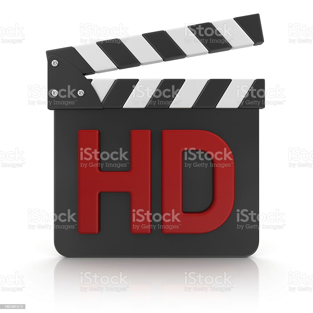 red hd on film slate royalty-free stock photo