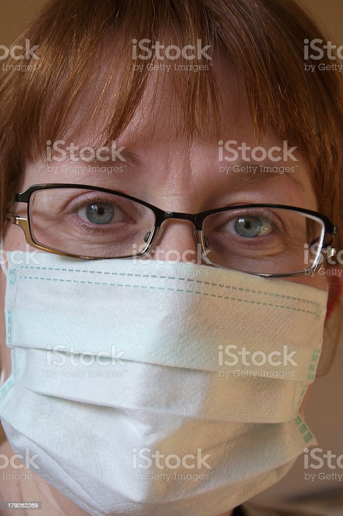 Red Head Doctor stock photo
