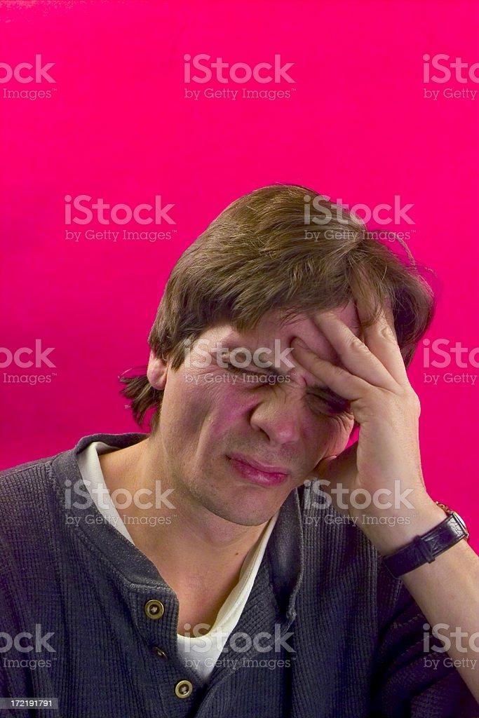 Red Headache stock photo