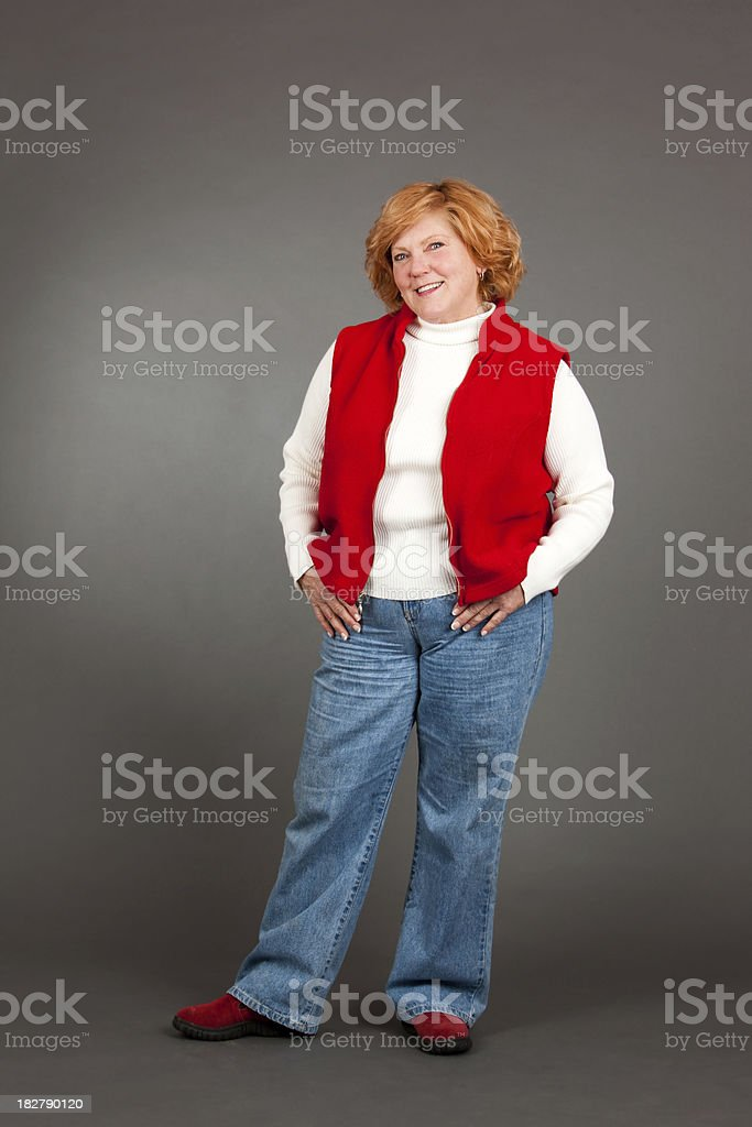 Red Headed Mature Woman stock photo