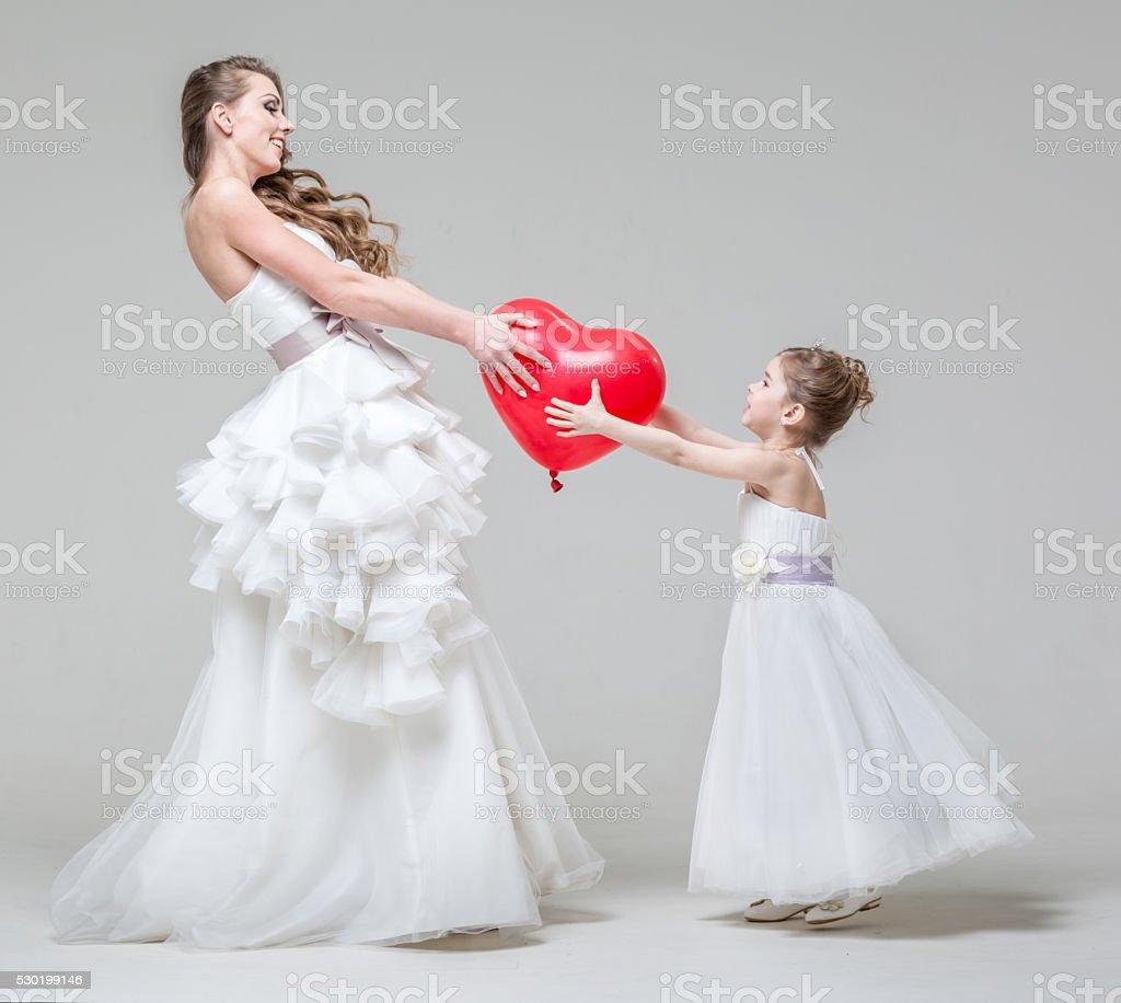 Red Heart As Relay Baton Of Next Wedding Ceremony stock photo
