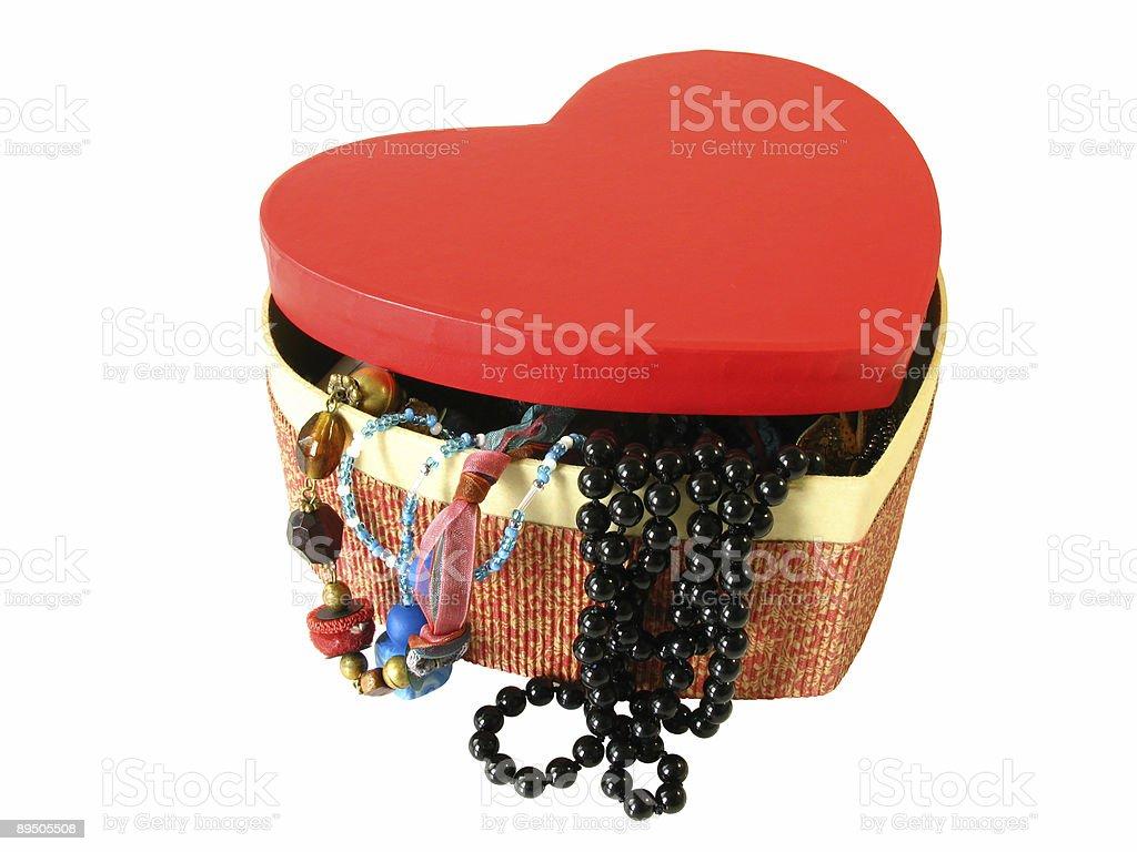 Red heart box royalty-free stock photo