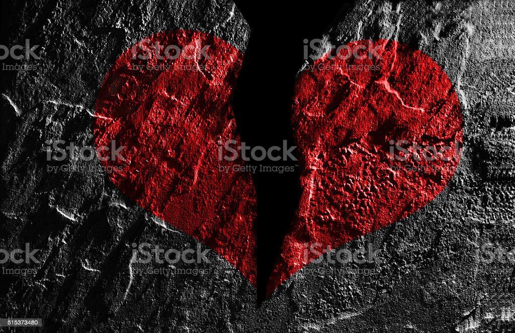 Red heart break stock photo